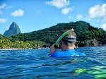 Snorkeling Just Offshore at Anse Chastanet Beach