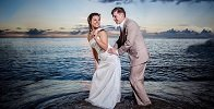 Newlywed Couple on Anse Chastanet Beach
